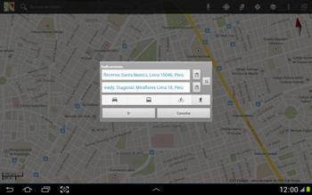 Uso de la navegación GPS - Samsung Galaxy Note 10-1 - N8000 - Passo 19