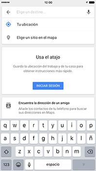 Uso de la navegación GPS - Apple iPhone 7 Plus - Passo 12