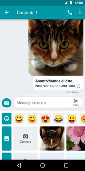 Envía fotos, videos y audio por mensaje de texto - Motorola Moto G6 Play - Passo 18