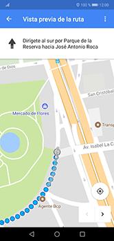 Uso de la navegación GPS - Huawei P20 Lite - Passo 16