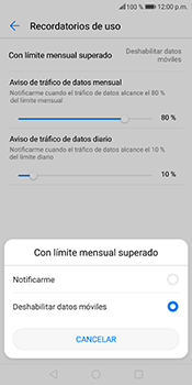 Desactivación límite de datos móviles - Huawei Mate 10 Lite - Passo 7