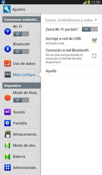 Comparte la conexión de datos con una PC - Samsung Galaxy Tab 3 7.0 - Passo 7