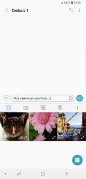 Envía fotos, videos y audio por mensaje de texto - Samsung Galaxy S9 Plus - Passo 9
