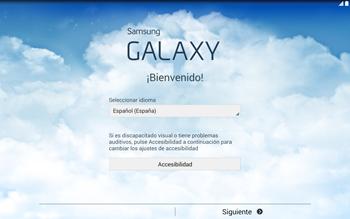 Activa el equipo - Samsung Galaxy Note Pro - Passo 3