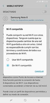 Configura el hotspot móvil - Samsung Galaxy Note 8 - Passo 7