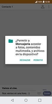 Envía fotos, videos y audio por mensaje de texto - LG Q6 - Passo 14