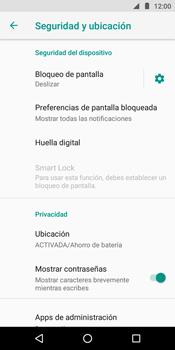 Desbloqueo del equipo por medio del patrón - Motorola Moto E5 - Passo 5