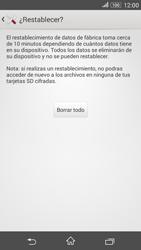 Restaura la configuración de fábrica - Sony Xperia E 4G - Passo 7