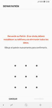Desbloqueo del equipo por medio del patrón - Samsung A7 2018 - Passo 9