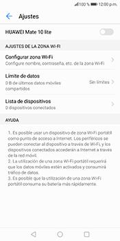 Configura el hotspot móvil - Huawei Mate 10 Lite - Passo 9