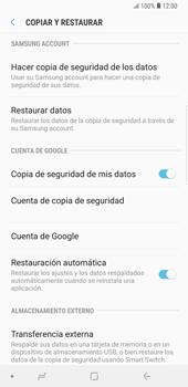 Realiza una copia de seguridad con tu cuenta - Samsung Galaxy Note 9 - Passo 7