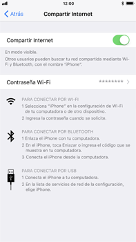 Configura el hotspot móvil - Apple iPhone 8 Plus - Passo 8