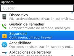 Activa o desactiva el uso del código de seguridad - BlackBerry Bold 9720 - Passo 3