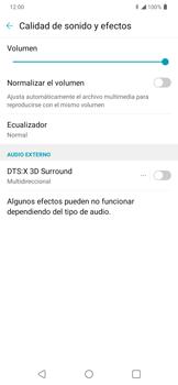 Cómo reproducir sonido con DTS: x3D Surround - LG K50s - Passo 10
