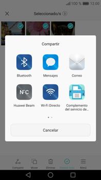 Transferir fotos vía Bluetooth - Huawei Mate 8 - Passo 8