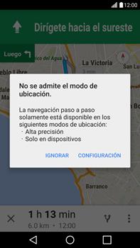 Uso de la navegación GPS - LG G4 - Passo 21