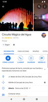Uso de la navegación GPS - Motorola Moto G8 Plus (Dual SIM) - Passo 9