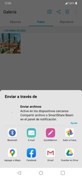 Transferir fotos vía Bluetooth - LG K50s - Passo 5