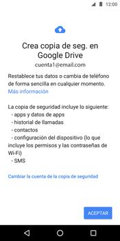 Realiza una copia de seguridad con tu cuenta - Motorola Moto E5 - Passo 9
