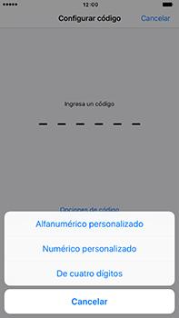 Activa o desactiva el uso del código de seguridad - Apple iPhone 7 Plus - Passo 5