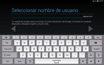 Crea una cuenta - Samsung Galaxy Note Pro - Passo 8