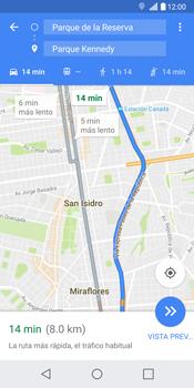Uso de la navegación GPS - LG G6 - Passo 17