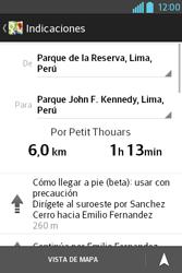 Uso de la navegación GPS - LG L4 II - Passo 19