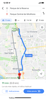 Uso de la navegación GPS - Apple iPhone XS - Passo 18