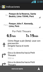 Uso de la navegación GPS - LG Optimus L7 - Passo 17