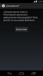 Restaura la configuración de fábrica - Motorola Moto E (1st Gen) (Kitkat) - Passo 7