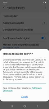Habilitar seguridad de huella digital - Samsung Galaxy S10 Lite - Passo 15