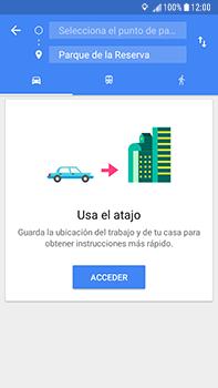 Uso de la navegación GPS - Samsung Galaxy J7 Prime - Passo 14