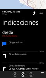 Uso de la navegación GPS - Nokia Lumia 720 - Passo 19