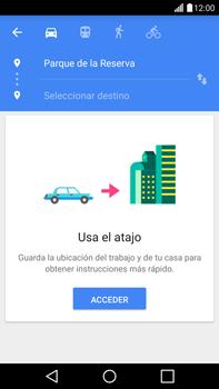 Uso de la navegación GPS - LG G4 - Passo 12