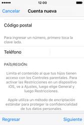 Crea una cuenta - Apple iPhone 4s - Passo 23