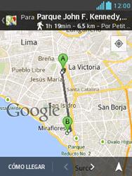 Uso de la navegación GPS - LG Optimus L3 II - Passo 15