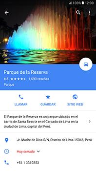 Uso de la navegación GPS - Samsung Galaxy A7 2017 - A720 - Passo 9
