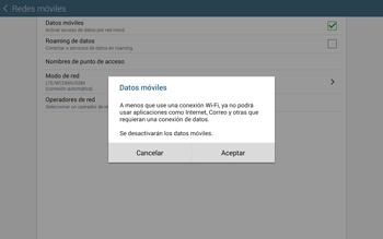 Desactiva tu conexión de datos - Samsung Galaxy Note Pro - Passo 6
