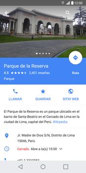 Uso de la navegación GPS - LG G6 - Passo 12