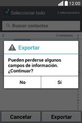 ¿Tu equipo puede copiar contactos a la SIM card? - LG L40 - Passo 9