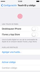 Activa o desactiva el uso del código de seguridad - Apple iPhone SE - Passo 3