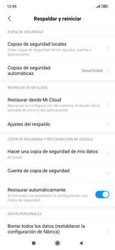 Realiza una copia de seguridad con tu cuenta - Xiaomi Redmi Note 7 - Passo 8