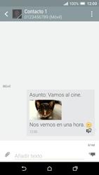 Envía fotos, videos y audio por mensaje de texto - HTC One A9 - Passo 21