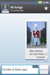 Envía fotos, videos y audio por mensaje de texto - Motorola MotoSmart Me  XT303 - Passo 17
