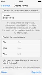 Crea una cuenta - Apple iPhone 5s - Passo 14