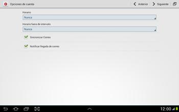 Configura tu correo electrónico - Samsung Galaxy Note 10-1 - N8000 - Passo 18