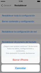 Restaura la configuración de fábrica - Apple iPhone SE - Passo 7