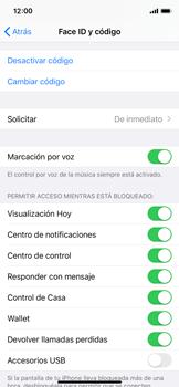 Activa o desactiva el uso del código de seguridad - Apple iPhone 11 Pro - Passo 7