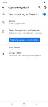 Realiza una copia de seguridad con tu cuenta - Samsung Galaxy S10 Lite - Passo 13