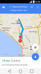 Uso de la navegación GPS - LG C50 - Passo 16